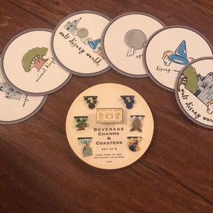 Disney Theme Parks Drink Charms & Coasters